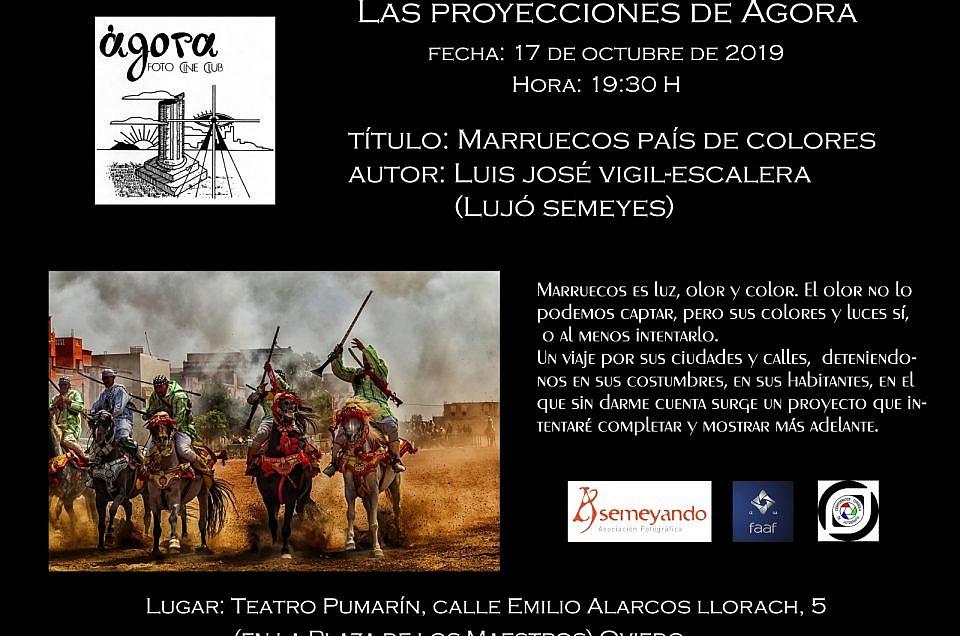 Charla Marruecos país de Colores en Ágora